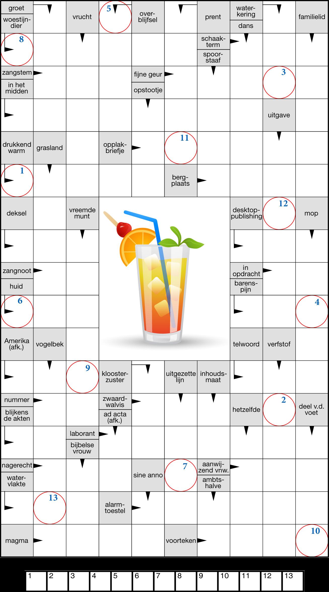 Zweedse puzzel met illustratie